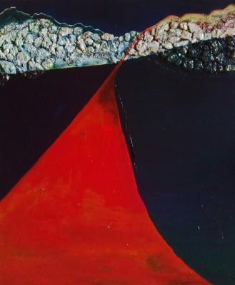 Schilderij: Rode Weg