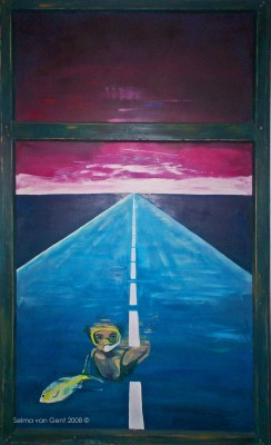 Schilderij: Onderwater