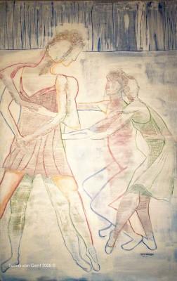 Schilderij: Witte dans