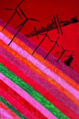 Schilderij: Bloemenveld