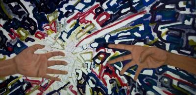 Schilderij: Handen