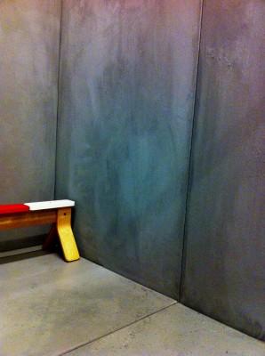 beton-look muur gemaakt voor reclamespot: Ikea