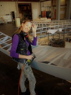 werken met gaas op houten frames: mooi en leuk!